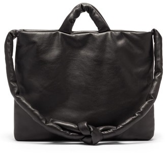 Kassl Editions Messenger Padded Leather Tote Bag - Black