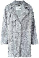 Manzoni 24 - notch collar fur coat - women - Acetate/Silk/Persian Lamb Fur - 42