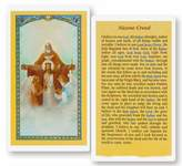 Gifts by Lulee Nicene Creed Laminated Holy Card Blessed By His Holiness Pope Francis