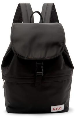 A.P.C. Velcro-patch Nylon Backpack - Mens - Black