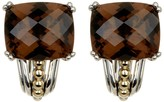 Lagos Sterling Silver & 18K Gold Smokey Quartz Huggie Earrings