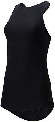 New Balance Transform Perfect Tank (Black) Women's Clothing