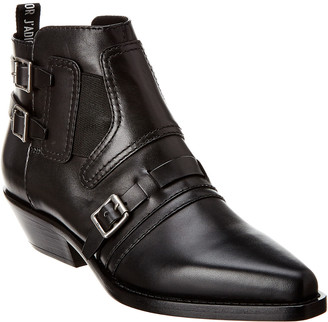 Christian Dior Saddle Leather Bootie