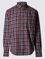 Marks and Spencer Pure Cotton Long Sleeve Flannel Shirt