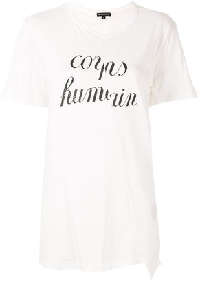 Ann Demeulemeester text print T-shirt
