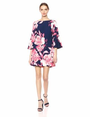 Brinker & Eliza Women's Floral Long Bell Sleeve Shift Dress