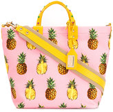 Dolce & Gabbana pineapple print tote - women - Cotton/Leather - One Size