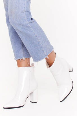 Nasty Gal Womens No Point to Prove Faux Leather Boots - White - 3