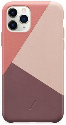 Native Union CLIC Marquetry Leather Case for iPhone 11 Pro - Rose