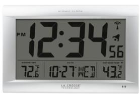 La Crosse Technology Large Digital Wwvb clock with Outdoor Temperature