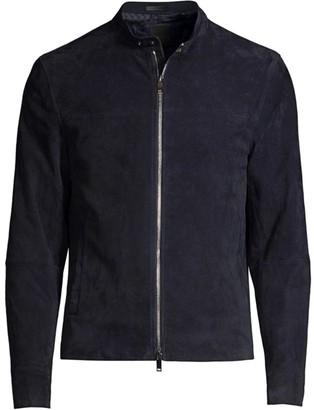 Theory Wynwood Suede Moto Jacket