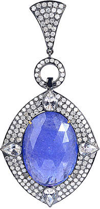 Artisan Jewelry Artisan 18K & Silver 24.96 Ct. Tw. Diamond & Gemstone Pendant
