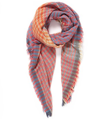Veronica Beard Houndstooth Square Scarf