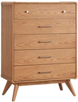 HomeVance Skagen Natural Finish 5-Drawer Accent Dresser