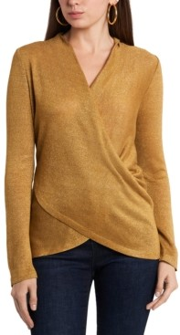1 STATE Draped Cross-Front Top