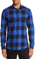 The Kooples Graphical Brushed Checks Slim Fit Button-Down Shirt - 100% Exclusive