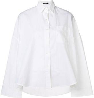 R 13 Wide Sleeve High Low Shirt
