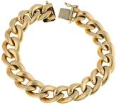 Ice 12.5 mm 14K Gold Curb Solid Seamless Chain Bracelet