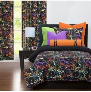 Crayola Neon Splat 6 Piece Full Size Luxury Duvet Set Bedding