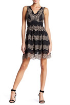 Trixxi Scalloped Pleated Skater Dress (Juniors)