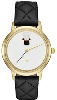 Kate Spade Women's Metro Magic Hat Leather Strap Watch, 34Mm