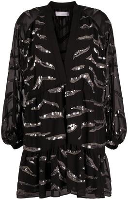 IRO Jounia zebra-print mini dress