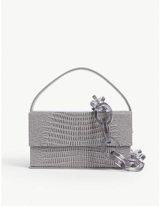L'Afshar Ida croc-embossed leather bag
