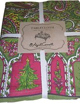 """April Cornell Fabric Christmas Christmas Tree Tablecloth 60"""" x 84"""""""