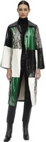 Stand Nino Patchwork Faux Leather Trench Coat