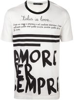 Dolce & Gabbana Italia is love printed T-shirt