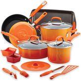 Rachael Ray Rachael RayTM Hard Enamel Nonstick 16-Piece Cookware Set in Gradient Orange