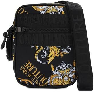 Versace Jeans Couture Baroque Logo Patch Nylon Camera Bag