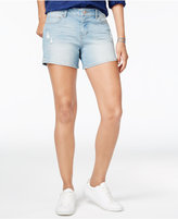 Vanilla Star Juniors' Vented Denim Shorts
