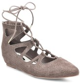 Betseyville by Betsey Johnson Women's Grison Lace Up Pointy Toe Flats