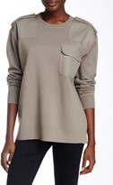 Marc by Marc Jacobs Compact Wool Blend Contrast Panel Sweater