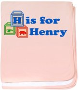 CafePress - Baby Blocks Henry - Baby Blanket, Super Soft Newborn Swaddle