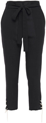 Ann Demeulemeester Cropped Lace-up Wool Tapered Pants