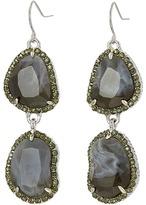 Sam Edelman Pave Stone Double Drop Earrings