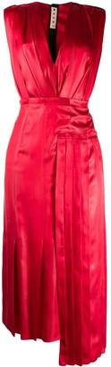 Marni V-neck satin dress