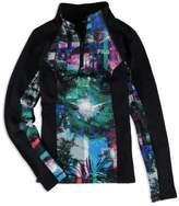 Fila Womens 1/4 Zip Fleece Jacket elecforest M