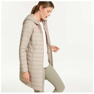 Joe Fresh Women's Hooded Puffer with PrimaLoft, Beige (Size L)