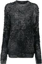 Avant Toi high shine detail top - women - Silk/Cashmere/Virgin Wool - M