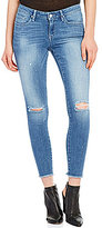William Rast Destructed Skinny Ankle Crop Jeans