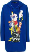 Love Moschino oversized logo hoodie
