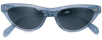 Oliver Peoples Cat Eye Sunglasses Clear Blue
