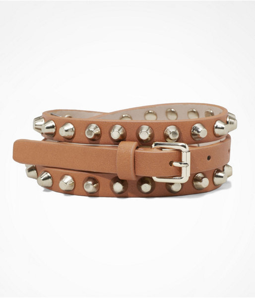 Express Studded Skinny Belt