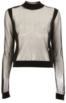 Maison Margiela sheer ribbed jumper - women - Polyester/Wool - S