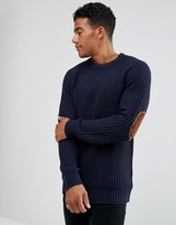 Brave Soul Fisherman Rib Sweater in Crew Neck