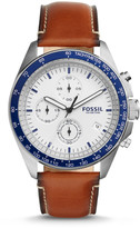 Fossil Sport 54 Chronograph Brown Leather Watch