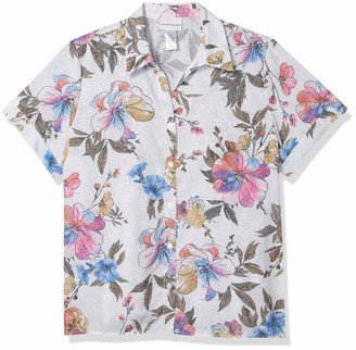 Alfred Dunner Women's Floral Print Burnout Woven TOP